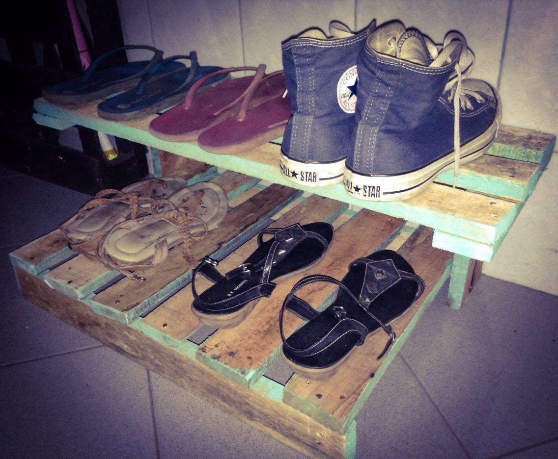 Shoes rack #pallets