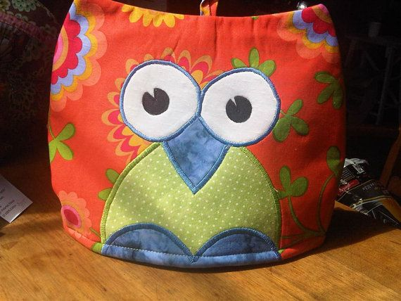 Embroidered Owl Tea Cosy in Kaffe Fassett Fabrics by RichardAndSon, $42.00