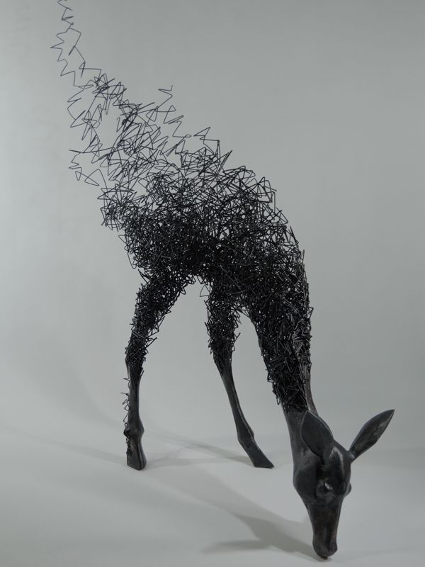 Très Japanese Artist Tomohiro Inaba's Disappearing Deer Sculptures  AK57
