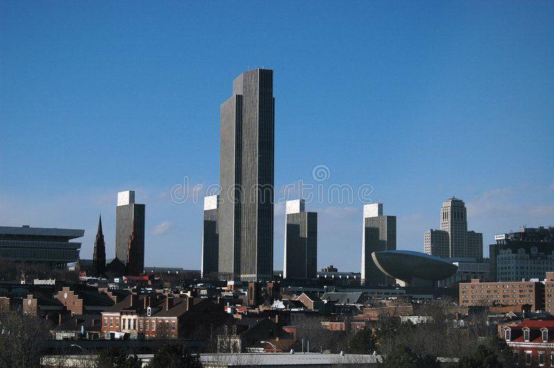 Albany Ny Skyline Skyline Of Albany Ny Including The Towers The Egg And The Ad Skyline Including Albany Ny Ny Skyline Albany New York Albany Ny