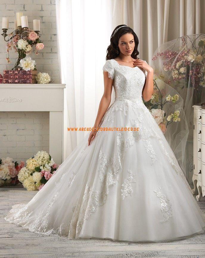 Bonny Bliss A-linie Schöne Luxuriöse Brautkleider aus Softnetz mit ...