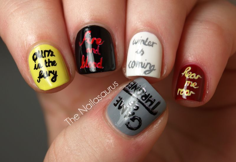 You Win or You Die (Game Of Thrones Nail Art) | Gaming, Nail art ...