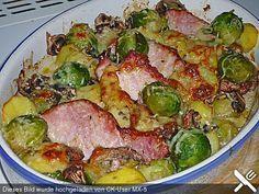 Kasseler-Rosenkohl-Auflauf #thanksgivingrecipes