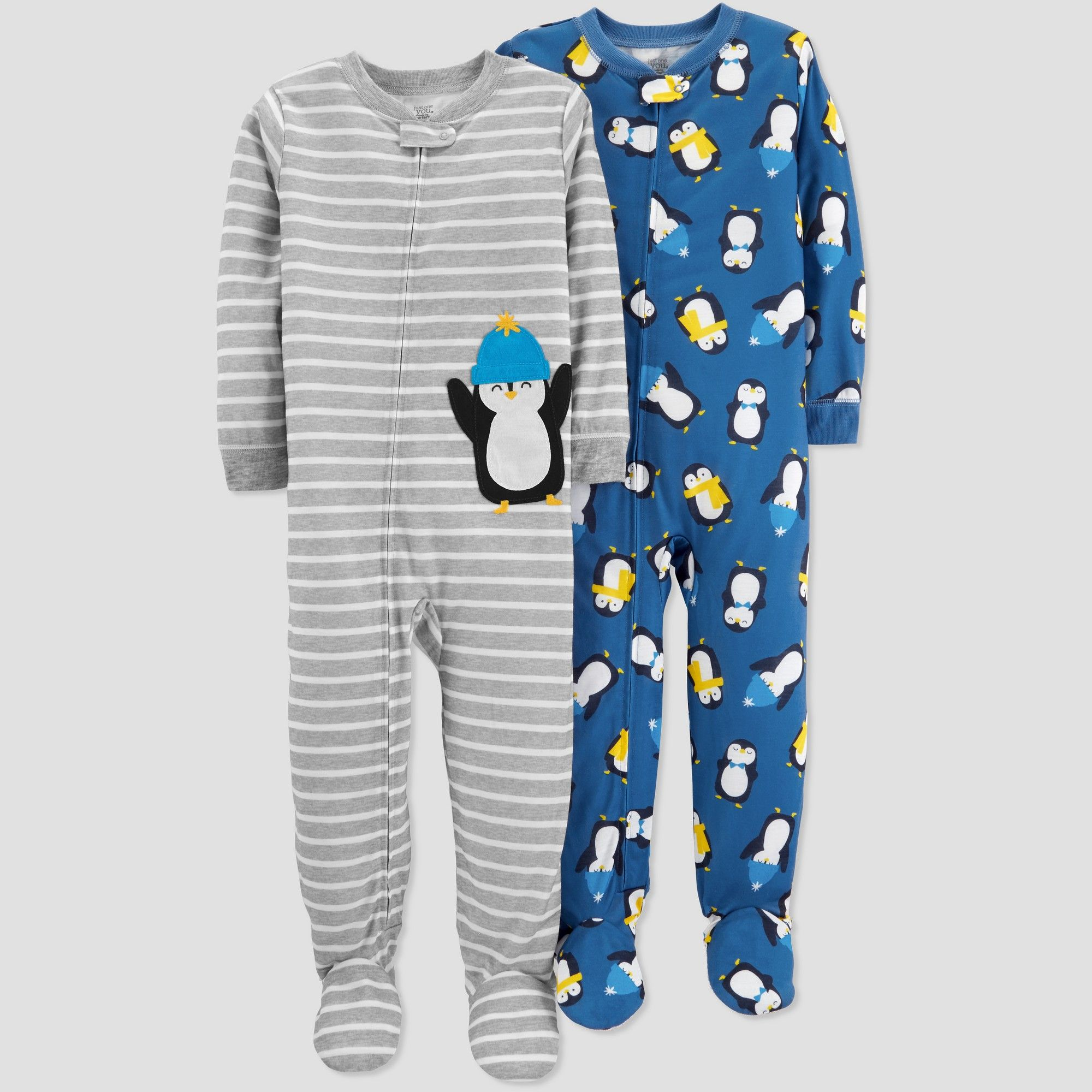 31b8e0a0003d Toddler Boys  Stripe Penguin Pajama Set - Just One You made by ...