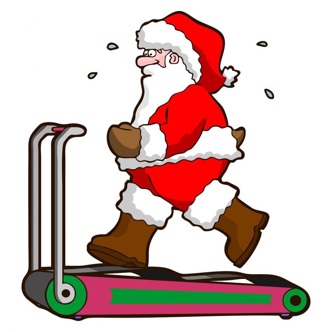 Santa Working Out