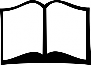 Black And White Open Book Vector Clip Art Book Silhouette Open Book Books