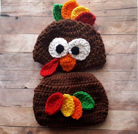 Newborn /& Toddlers up to 24 Months Preemie Happy Thanksgiving Turkey Baby Hat