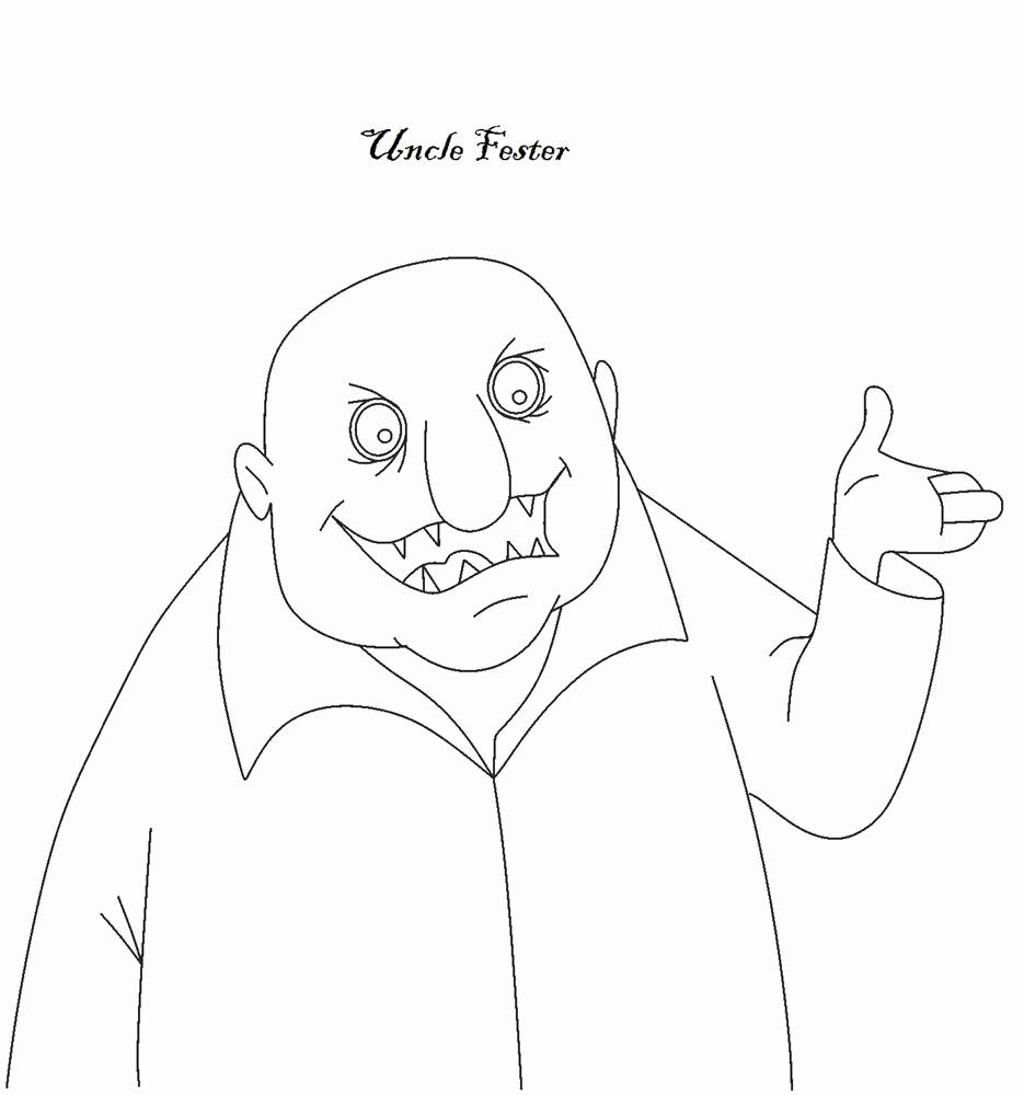 Uncle Tony 039 S Coloring Book Best Of The Addams Family Character Uncle Fester Coloring Books Kids Coloring Books Words Coloring Book