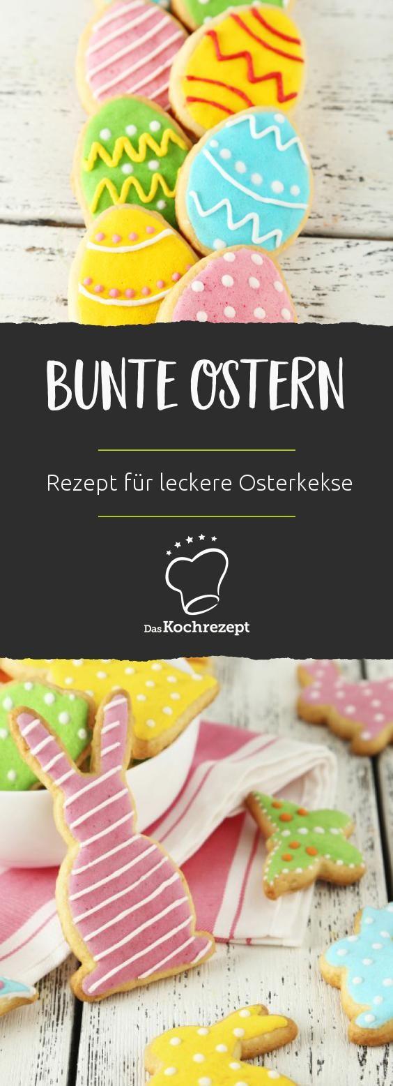 Kunterbunte Osterkekse