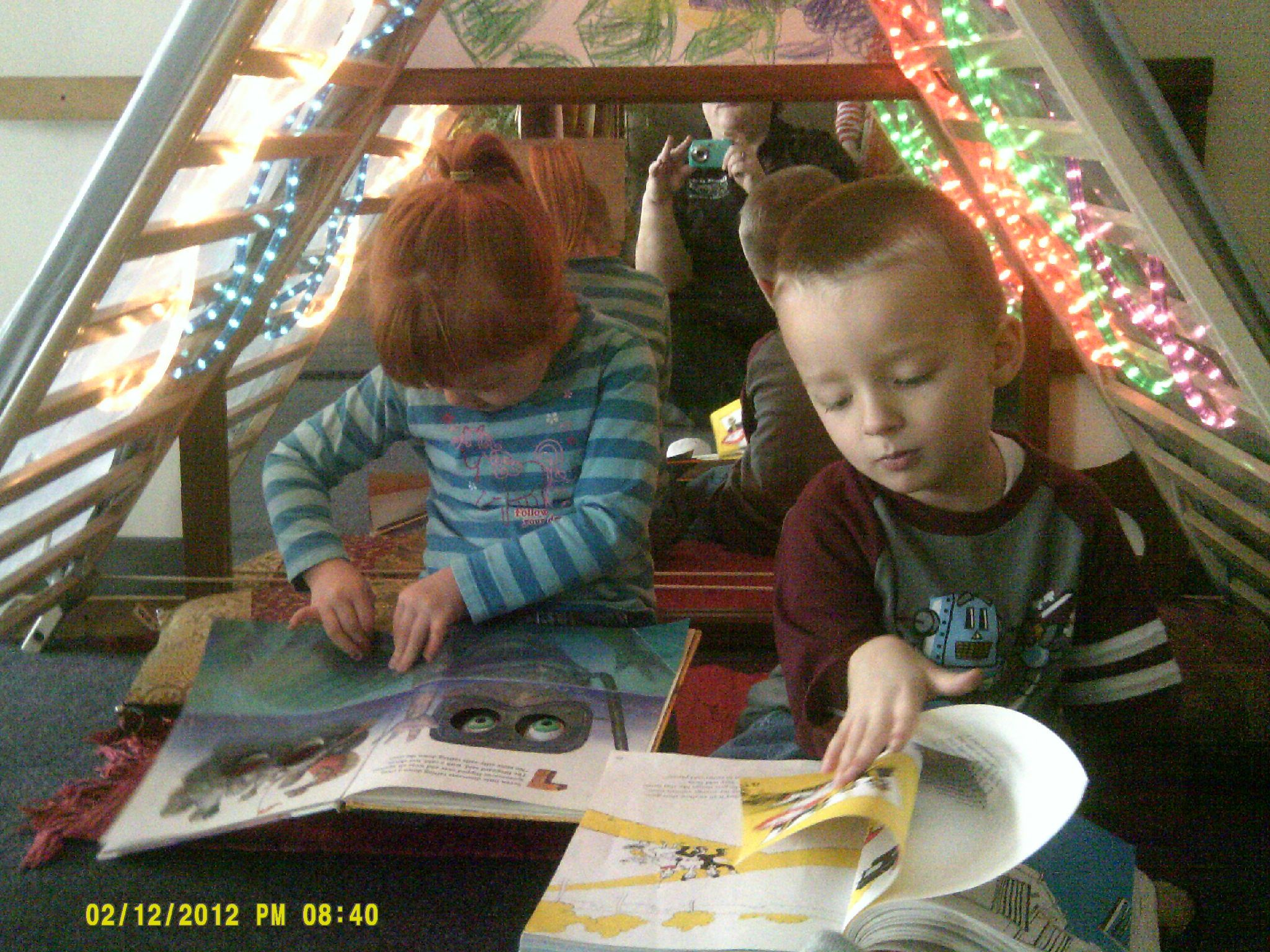 Our light cave in the Reading Area of Preschool. | Private ...
