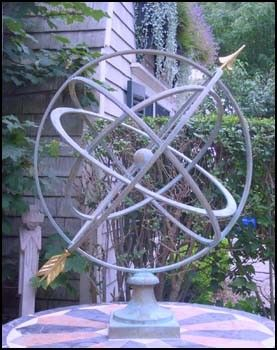 Large Verdigris Armillary Sphere Garden Art Finegardenproducts.com