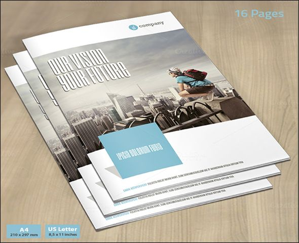 Free Premium Corporate Brochure Design Templates Corporate - Bi fold brochure template publisher