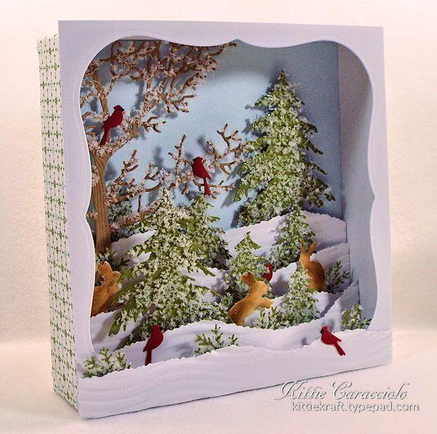 Новогодняя открытка пейзаж своими руками