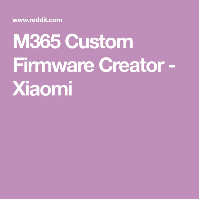 M365 Custom Firmware Creator - Xiaomi | Stuff in 2019 | The