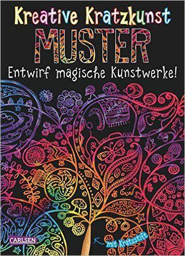 Kreative Kratzkunst: Muster: Set mit 10 Kratzbildern, Anleitungsbuch und Holzstift: Amazon.de: Anton Poitier: Bücher