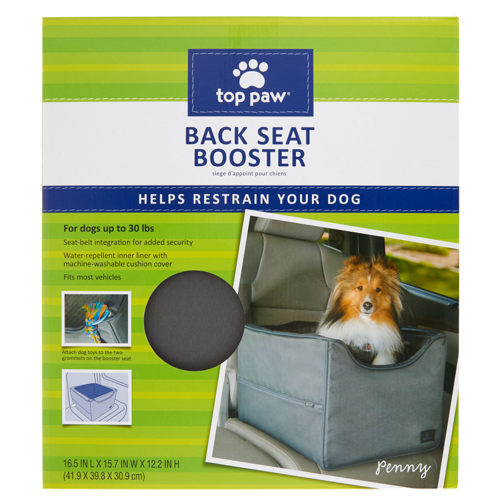 Top Paw Back Seat Booster Pet Car Seat In 2020 Pet Car Seat Pet Car Dog Car Booster Seat