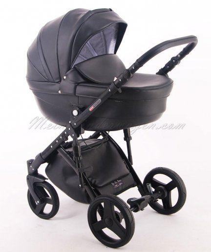 Kombikinderwagen Prestige Comfort Total Black Eco Leder Limited Edition Kinder Wagen Kinderwagen Kombikinderwagen