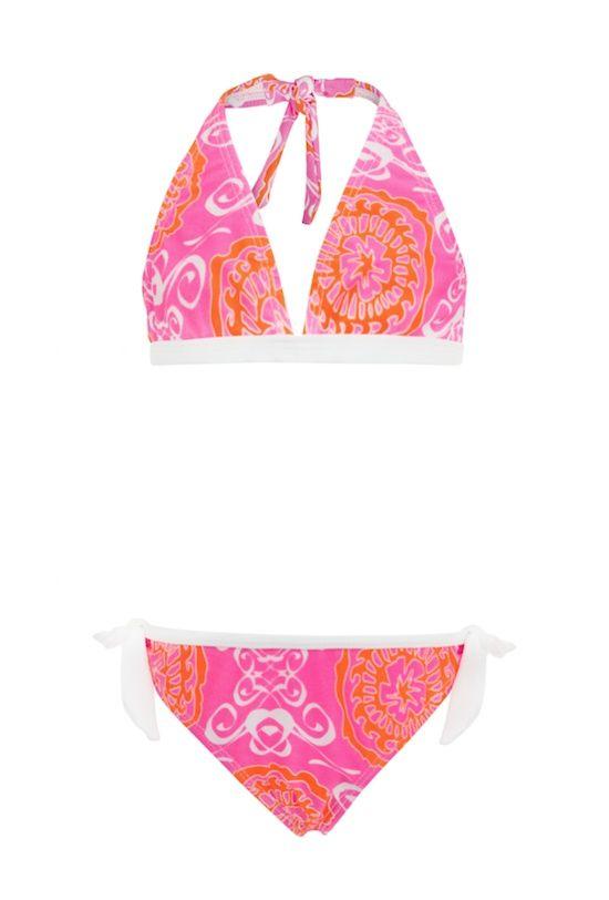 Snapper Rock Neon Surf Medallion Girls Classic Bikini