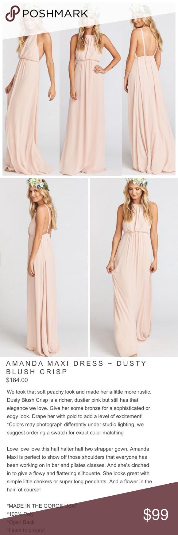 NEW SHOW ME YOUR MUMU $184 Amanda Open Back Maxi Dress