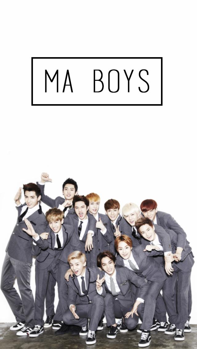 Exo Wallpaper For Phone Trina Exo Exo Ot12 Exo Lockscreen