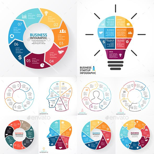 7 steps infographics psd eps ai infographics infographic and psd eps ai circle diagraminfographic ccuart Images