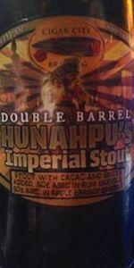 Hunahpu S Imperial Stout Double Barrel Aged Cigar City Brewing City Brew Madagascar Vanilla Beans Double Barrel