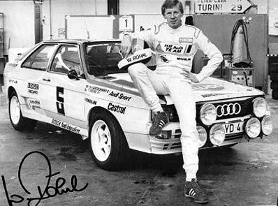 The Four Legendary Audi Drivers Audi Ur Quattro Group B W
