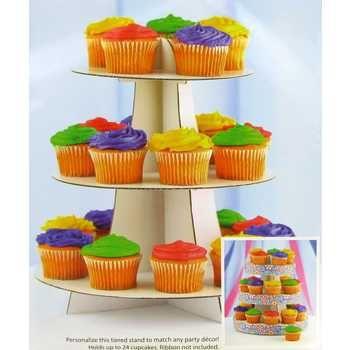 White Cupcake Stand Com Imagens Festa De Monstro Festa
