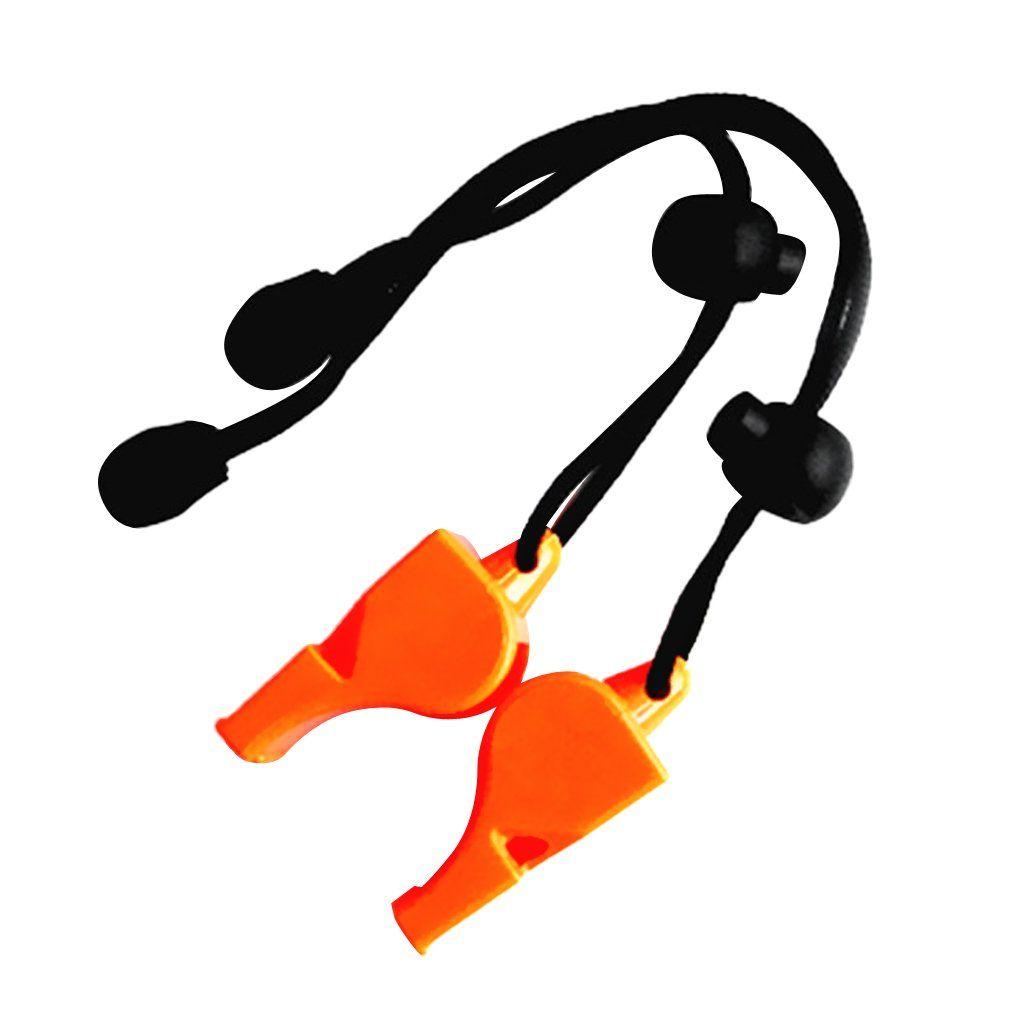 Marine Safety Whistle Boating Camping Hiking Emergency with Lanyard Orange