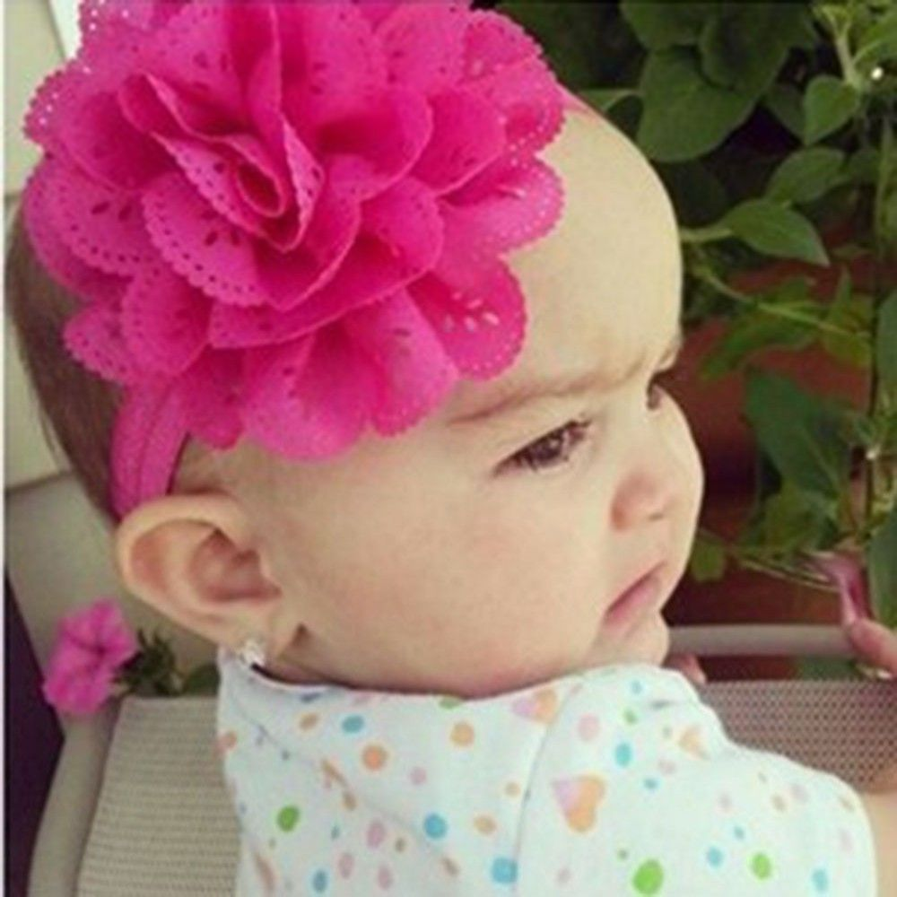 df0e24aca63 Chic 1PC Lace Flower Kids Baby Girl Toddler Headband Hair Band Headwear  Accessories-in Hair Accessories from Mother   Kids on Aliexpress.com