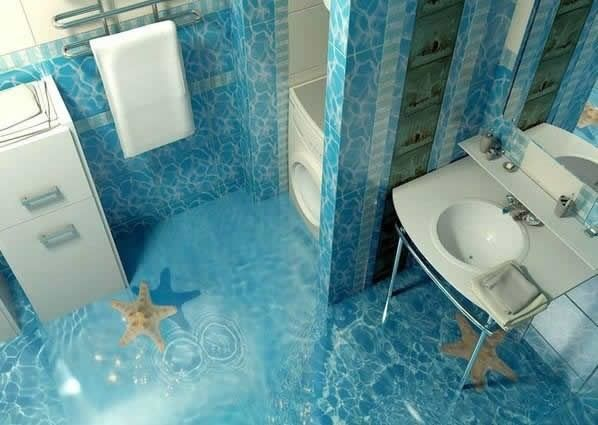 Nice Self Leveling 3D Floors Designs For Bathroom Flooring
