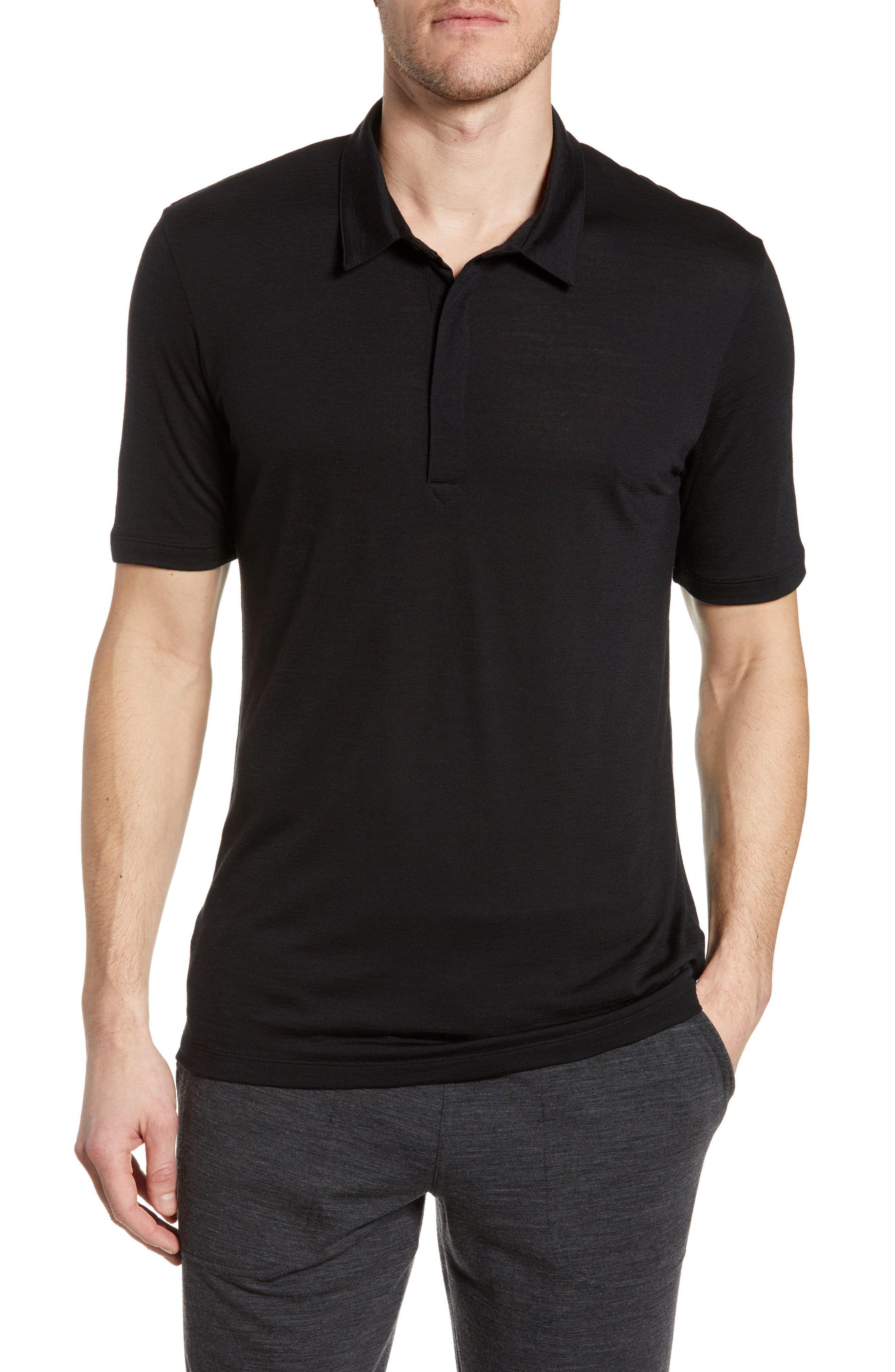 Icebreaker Men/'s   Solace Short Sleeve Polo Shirt
