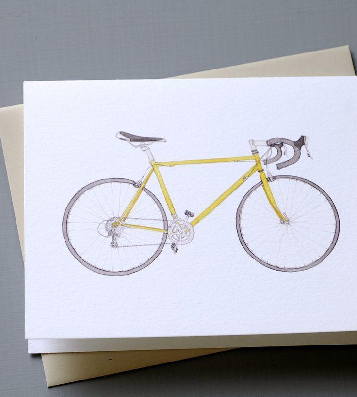 Vintage Bicycle Cards - Pack of 6