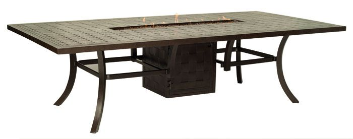 Just arrived dining table with fire pit welch for Concreteworks fire table