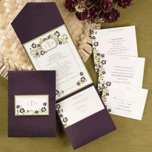 Dark Purple Wedding Invitations: 40 Glamorous Dark Purple Wedding Inspirational Ideas