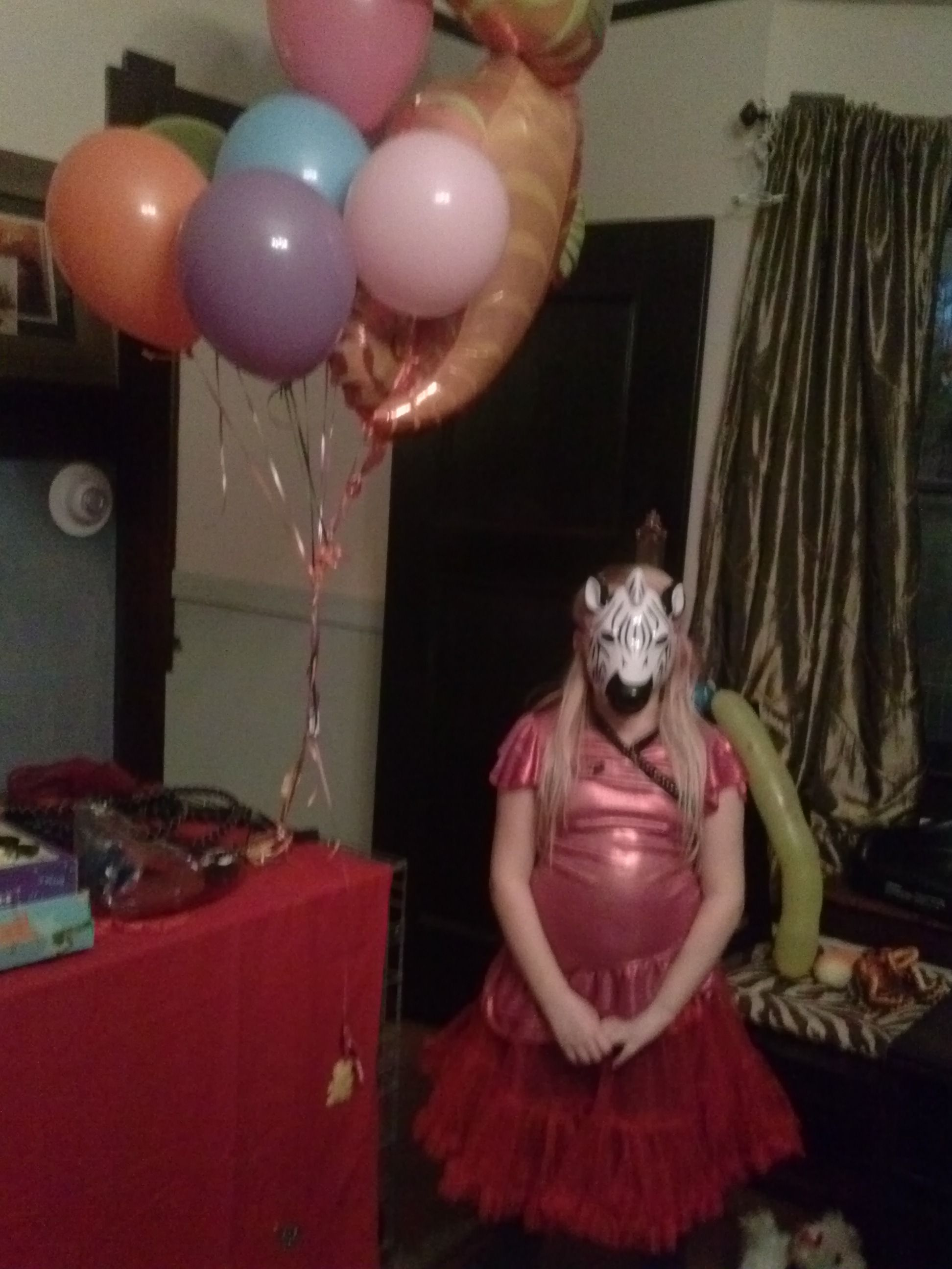 circus friend with balloons
