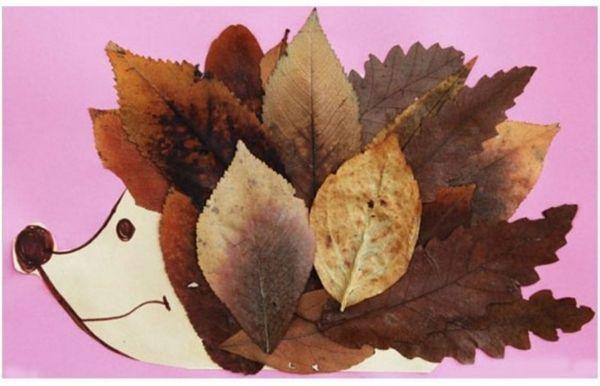 Igel kindermalerei bastel ideen herbst holigan art for Kindergarten bastelideen herbst