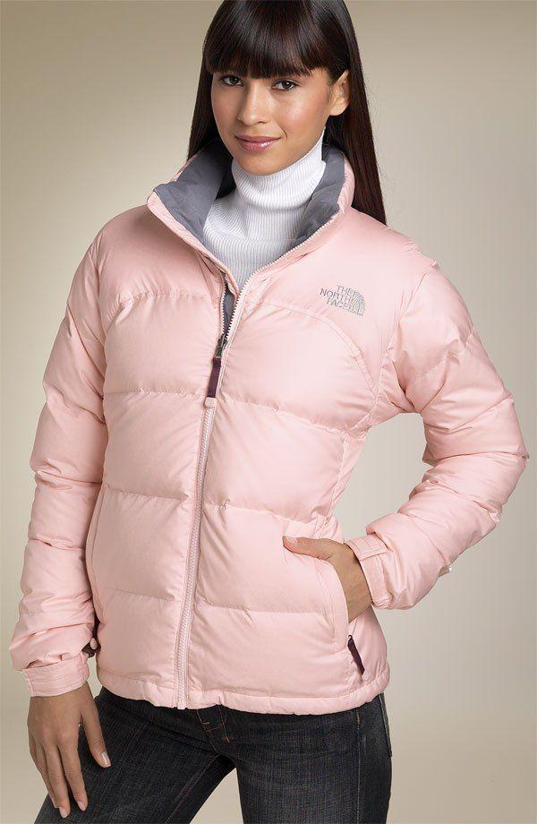 """7b19b55afa Pink The North Face """"Nuptse"""" down jacket"""