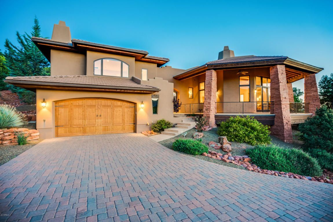 130 Granite Mountain Road Sedona Az 86351 1 3 Acre Property Nestles Hillside In Gated La Barranca With Superb Privacy French Doors Real Estate Built In Bbq
