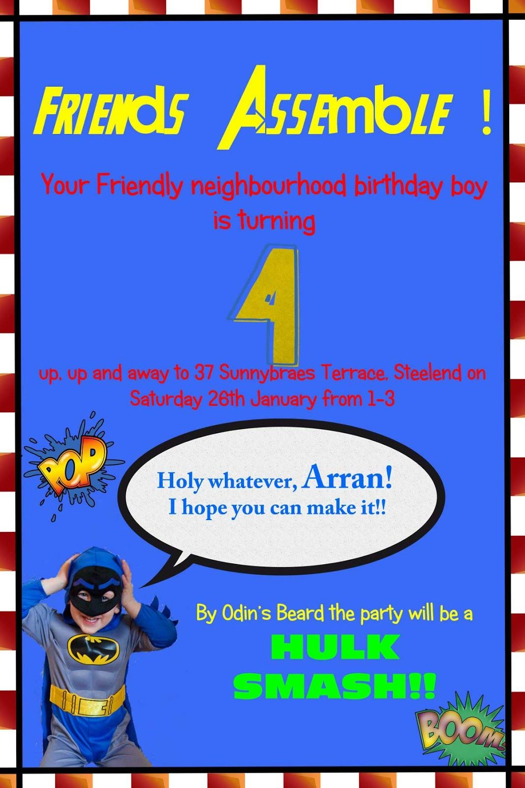 Shootsweet.co.uk: Superhero Party {The Introduction} | Ayden crafts ...