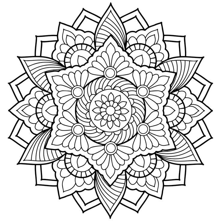Free Printable Mandalas Coloring Pages Adults Printable 360 Degree Mandala Coloring Pages Abstract Coloring Pages Mandala Coloring Books