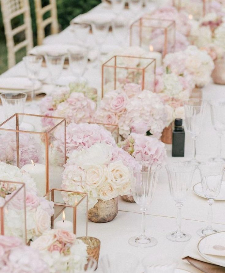 "Blush And Gold Wedding Decor: Lantern 6""D X 10""H(Rose Gold)"