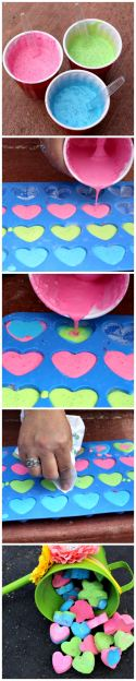 DIY Sidewalk Chalk - 3 ingredients!!