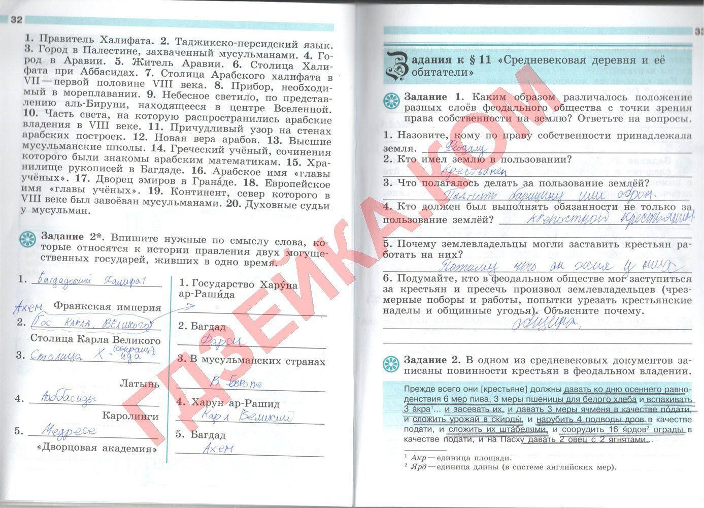 Списывай.ру по истории 6 класс