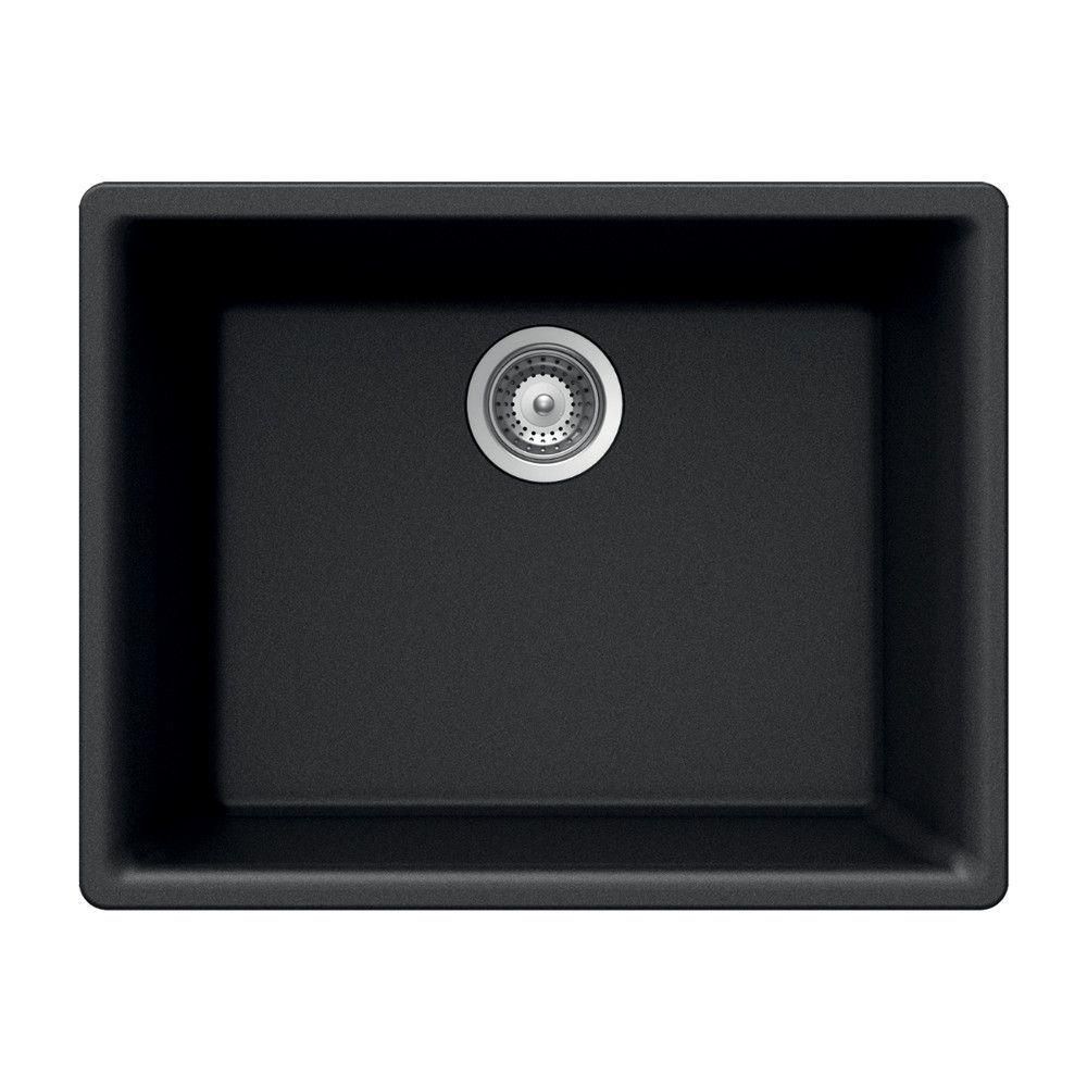 "Quartztone 23.62"" x 17.75"" Single Bowl Undermount Kitchen Sink"