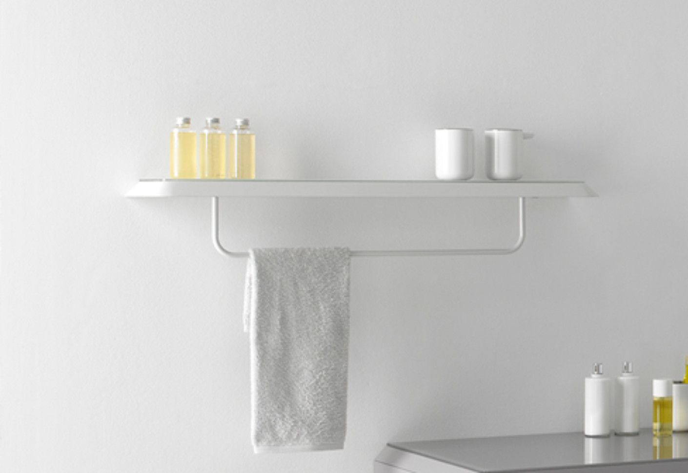 Bathroom Shelves Fluent Rack With Towel Rail By Inbani At