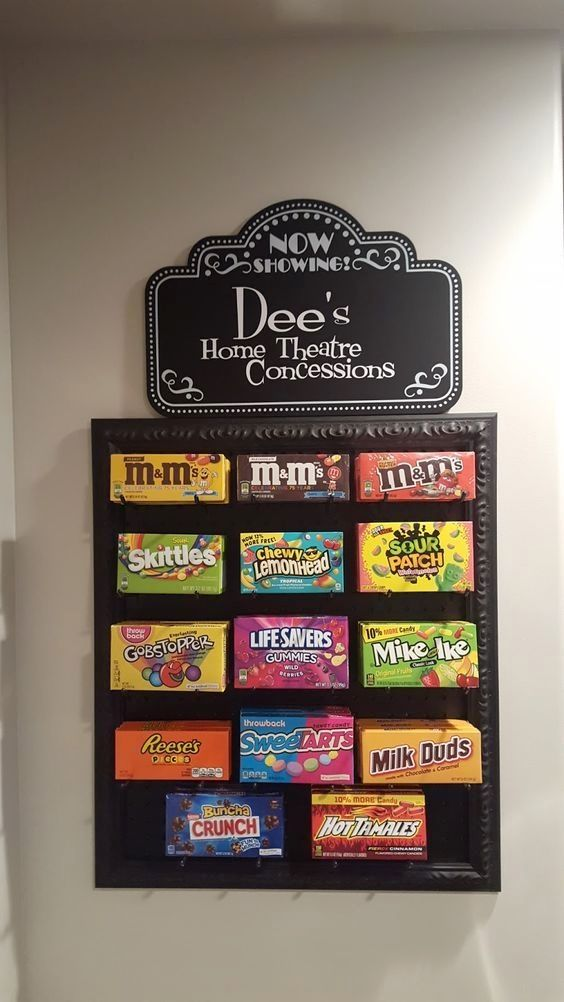 Peg board concession stand for movie night at home so cute via westcreek also rh pinterest