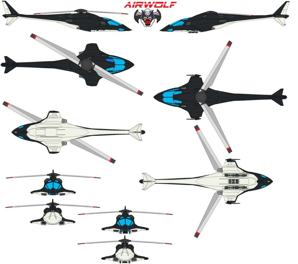 With the recent advances in technology and design aircraft concepts - Airwolf Reimagind By Bagera3005