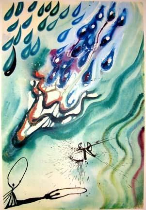 Another image from the Random House limited edition of Alice in Wonderland, illustrated by Salvador Dali.