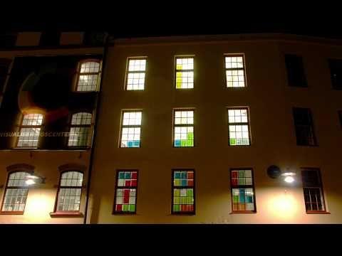 Post-it Tetris in a building